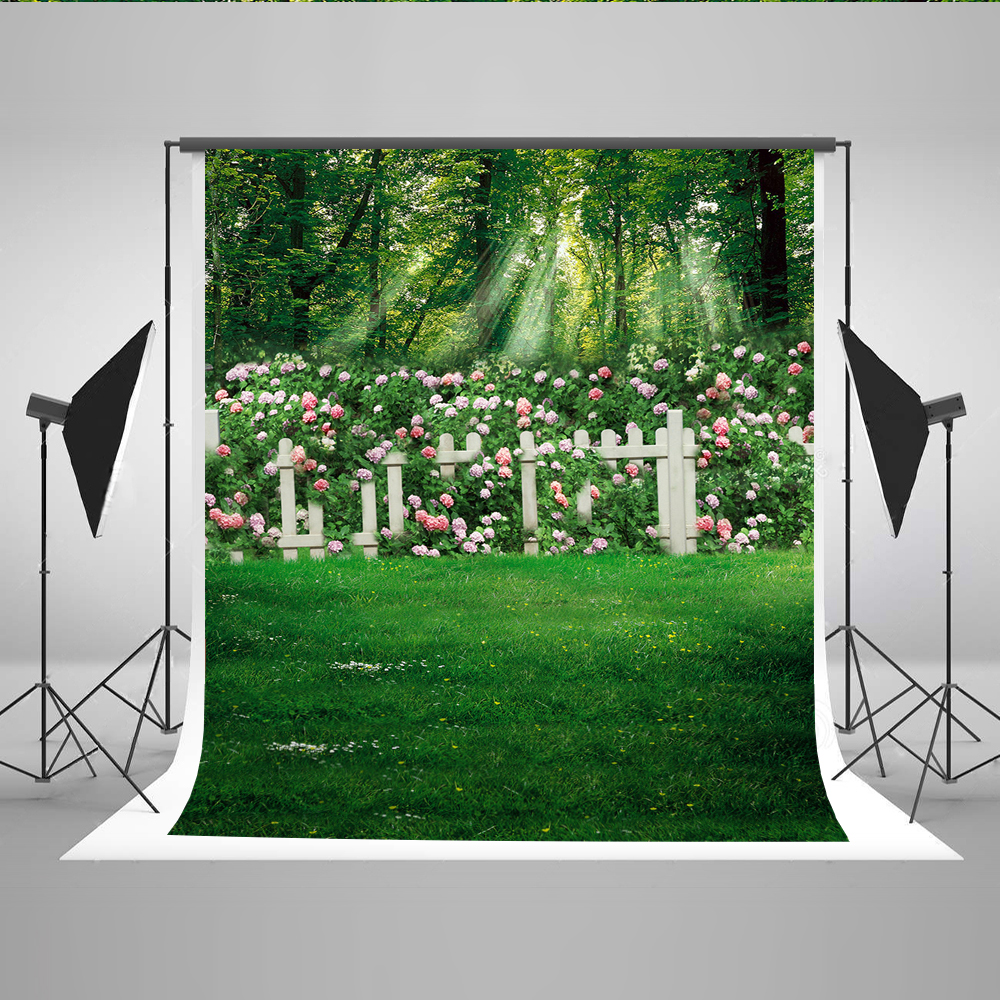 5X7 Green Garden Backdrop for Photography Cotton Wedding Photographic Background Foto for Fond Studio Photoshoot Kate