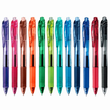 Japan Pentel Gel Pen 0.5 mm Retractable Multi Color Needle Tip Fast Dry Student Writing School Office Stationery BLN105