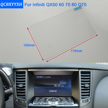 QCBXYYXH For Infiniti QX50 60 QX80 Q70 Car Styling GPS Navigation Screen Glass Protective Film Dashboard Display Protective Film image