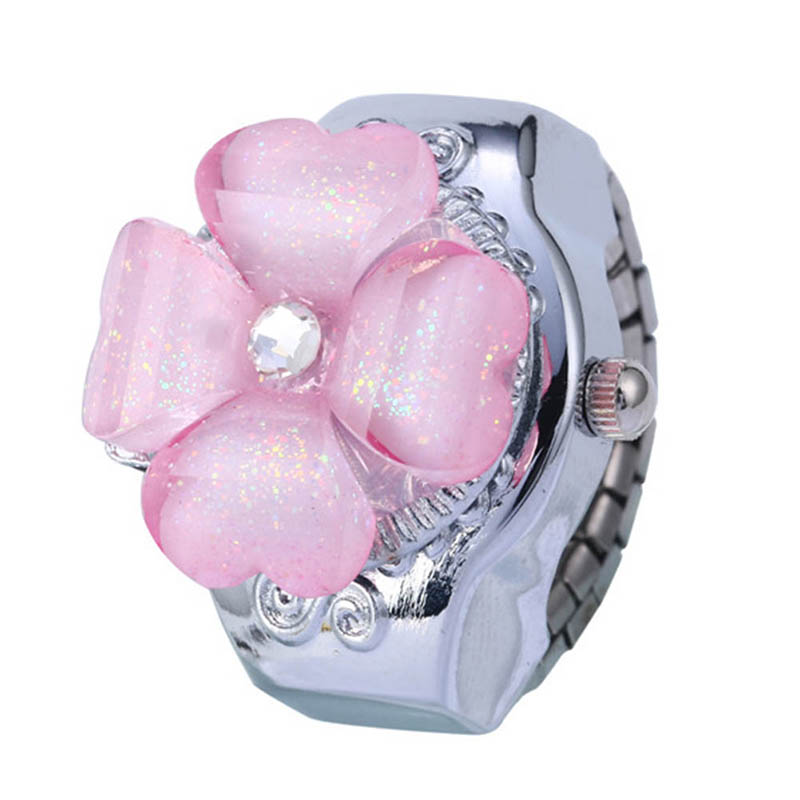 *Creative Fashion Lady Women Steel Round Elastic Quartz Watches Girl Finger Ring Watch Woman Novel Relogio Feminino*