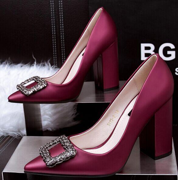 Tamaño 4 ~ 8 Púrpura Elegante de Las Mujeres Zapatos de Fiesta de La Boda Más Nuevos de los Altos Talones Mujeres Bombas mbt zapatos de mujer (marque Longitud de Pie)