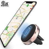 Iksnail mini carro montar gps suporte magnético ventilação de ar suporte do telefone para o iphone x 8 6s plus universal ímã do telefone celular montar suporte|Suporte p/ GPS| |  -