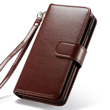 2 In 1 Magnetic PU Leather Wallet Case for Samsung Galaxy Note 8 9 S9 S8 Plus S7 Edge Card Slots Flip Folio Stand Phone Bag