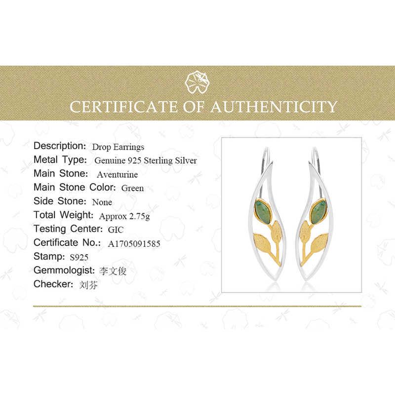 Lotus Vui Thật Nữ Bạc 925 Tự Nhiên Tay Sáng Tạo Mỹ Trang Sức Mùa Xuân Trong Không Khí Lá Bông Tai Giọt Dành Cho Nữ