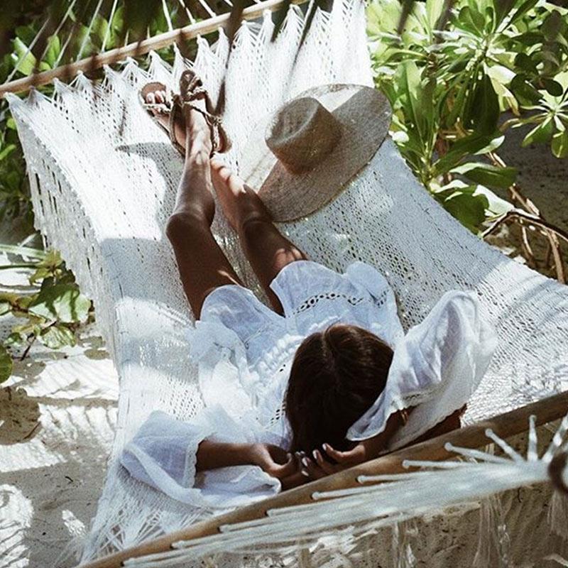 Women Bikini Cover Up Lace Hollow Crochet Swimsuit Summer Beach Dress Ladies Bathing Suit Cover-Ups YS-BUY 1
