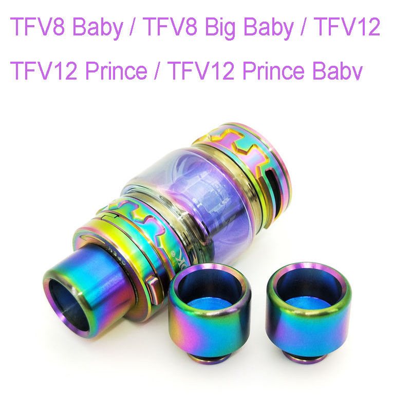 Rainbow Extend Glass Tube + Drip Tip For SMOK TFV12 Prince / TFV8 Big Baby / TFV12 Prince Baby / TFV8 Baby / TFV12 Cloud Beast