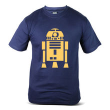 6315-NV Star Wars Universe R2-D2 Yellow R2D2 Logo Navy Mens T-Shirt Free shipping  Harajuku Tops Fashion Classic