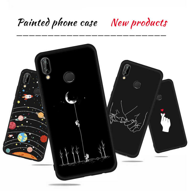 Fashion Phone Case For Huawei P20 Lite Pro Mate 10 P10 P9 P8 Lite 2017 Nova 2i For Honor 9i 8 Lite Soft TPU Lover Pattern Cover