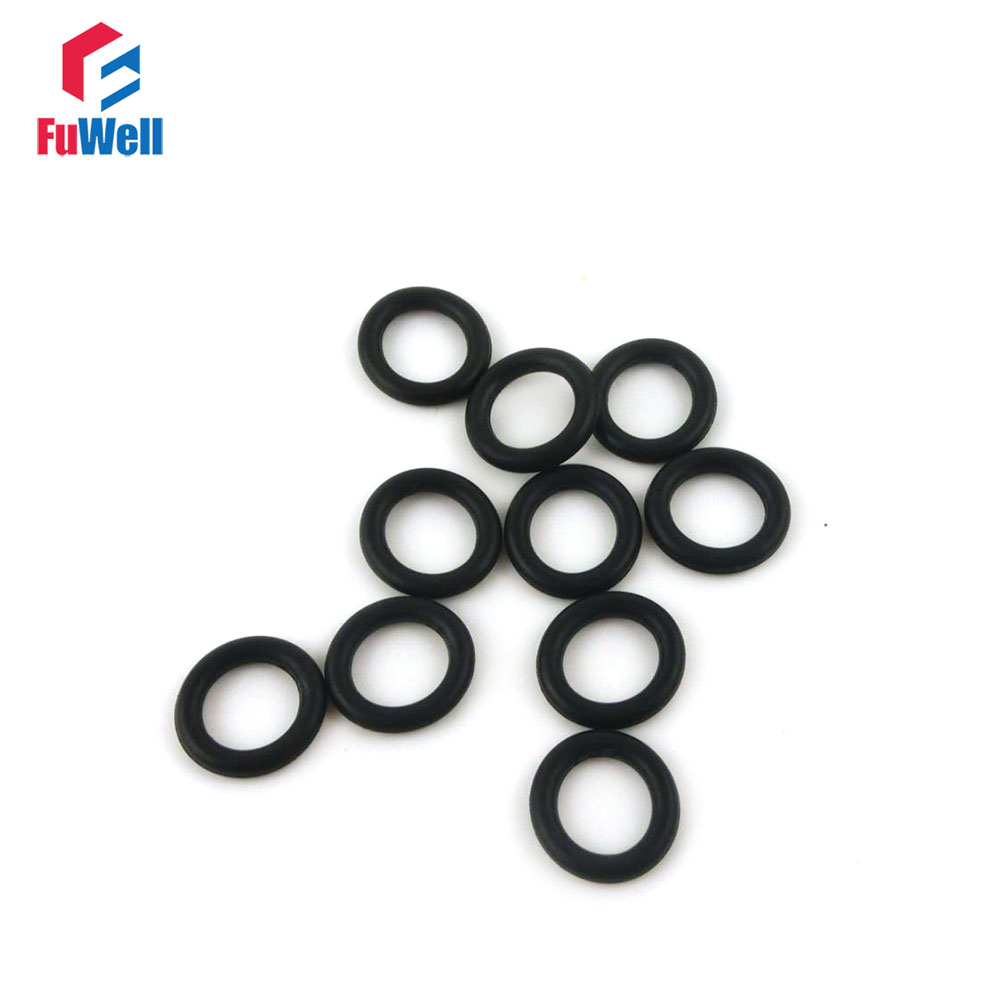 200pcs 3mm Thickness Nitrile Rubber O Rings Seals Washer Grommets 10 ...