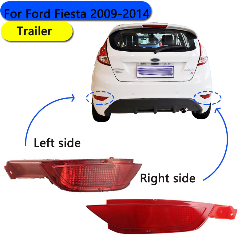 New car RED Tail Rear bumper reflector lamp Brake light rear fog lights for Ford Fiesta 2009 2010 2011 2012 2013 2014 Hatchback car rear fog bumper lamp reverse brake lights for nissan qashqai 2007 2008 2009 2010 2011 2012 2013 2014 2015