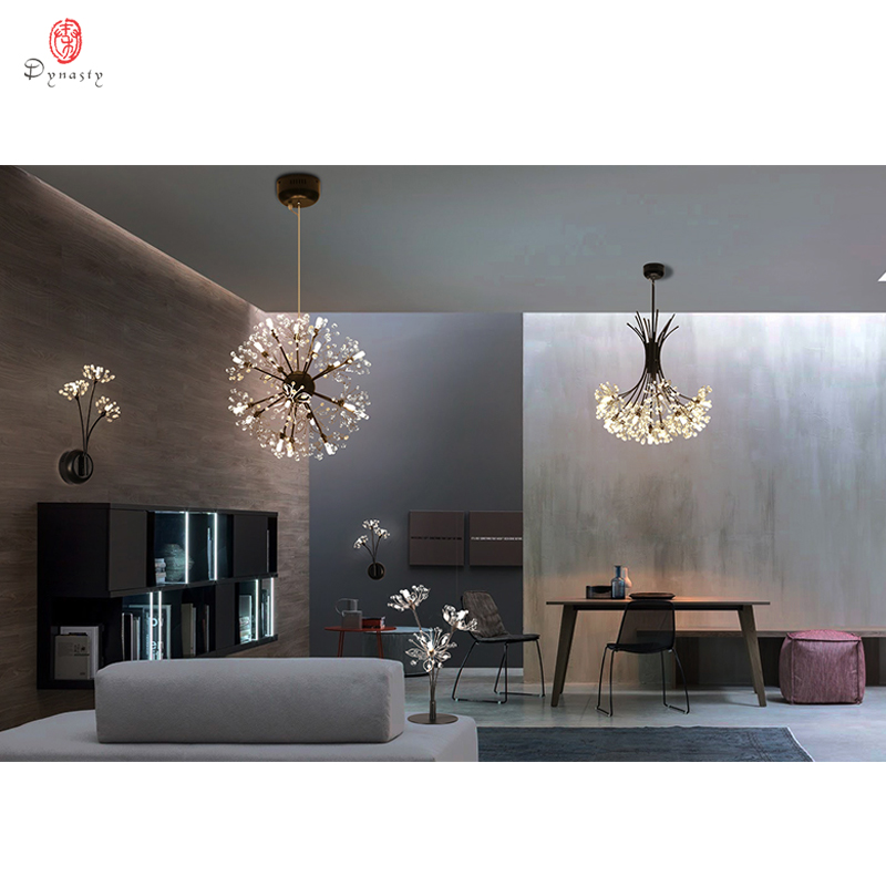 Image 4 - Dandelion Series Hanging Lights Art Decorative Pendant Lamp Branch& Ball Shape Include LED G4 Bulbs Foyer Cafe Living Room Light-in Pendant Lights from Lights & Lighting