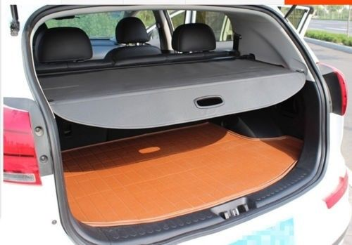 BBQ@FUKA  Rear Trunk Shade Cargo Cover Fit For 2015 2016 KIA Sorento Black car rear trunk security shield shade cargo cover for honda fit jazz 2004 2005 2006 2007 black beige
