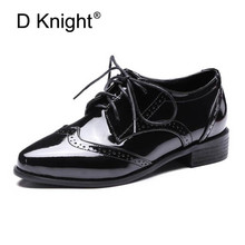 Fashion Pointed Toe Lace Up Women Casual Oxford Shoes Vintage England Style Carved Oxfords For Women Ladies Casual Flat Shoes hot sale carved british style oxford shoes for women fashion sweet flat lace up women oxfords ladies casual four seasons shoes