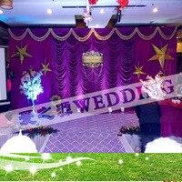 2017 водопад Свадебные фонов, свадебные этапе простыня цвет может быть customed, Свадебный декор