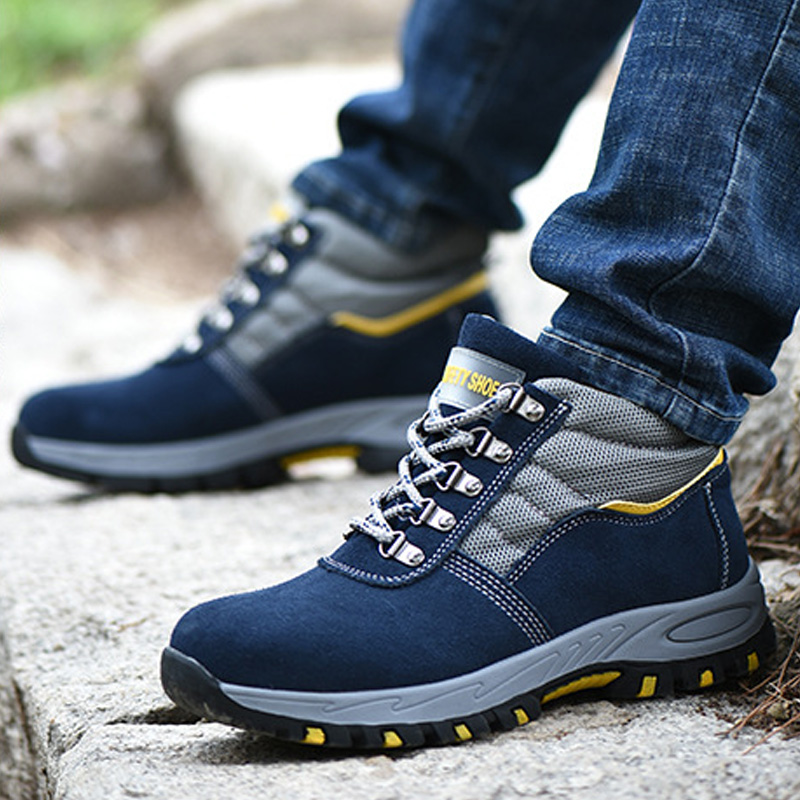 Men Boots Safety Work Boots Anti-smashing Safety Shoes Slip-on Men Shoes Male Sneakers Indestructible Shoes Work Boots Men 39 S