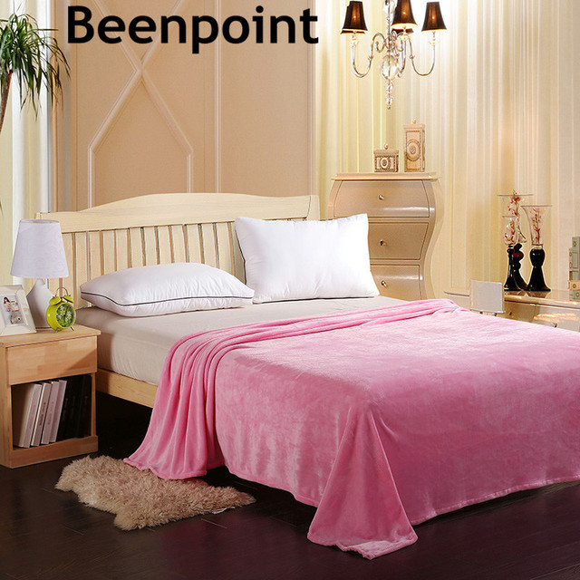 Beenpoint WARM SNUGGLE BLANKETS Adult Plaid Coral Fleece Flannel Fluffy Plush Winter Summer Blanket For The Bed In Blankets From Home Garden On