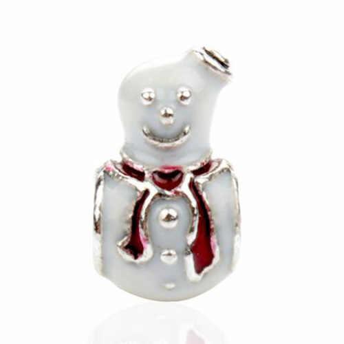 Châu âu Pha Lê Castle Xe Nước Drop Shipping Snowman Santa Claus Hợp Kim Hạt Phù Hợp Với Pandora Vòng Đeo Tay Quyến Rũ Dây Chuyền Femme TỰ LÀM Đồ Trang Sức