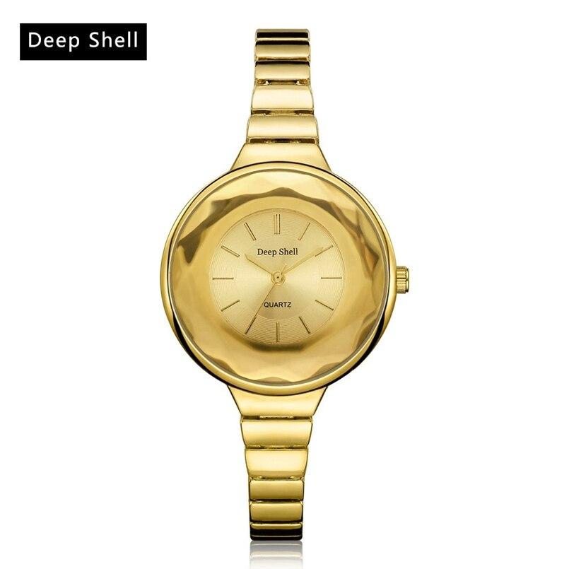 Deepshell Gold Women Watche New Designer Ladies Watches Rhinestone Full Diamonds Women Dress Watche Dropship #N05