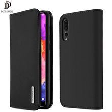 все цены на Dux Ducis Luxury Genuine Leather Wallet Case For Huawei P20 Pro Vintage Magnetic Flip Cover For Huawei P20 P20 Pro Phone Coque онлайн