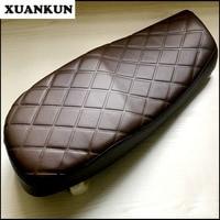 XUANKUN Cafe Racer Comfortable Diamond Shaped Checkered Retro Motorcycle Seat Cushion Saddle Cushion