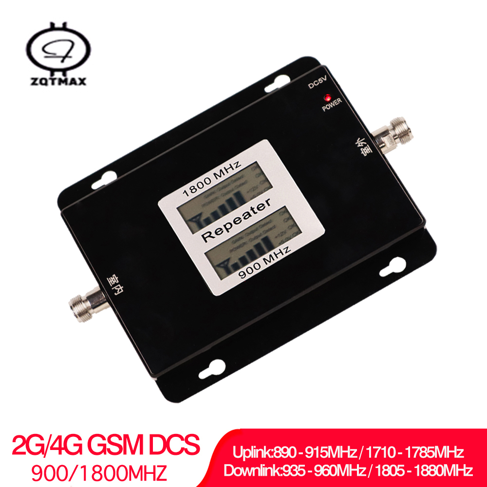 GSM 900 LTE 1800 Mhz Dual Band Repeater GSM 2G 4G LTE Phone Amplifier Cellular Mobile Booster For Home Use LCD Display