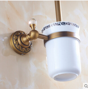 New Arrivals Toilet Brush Holder bathroom accessories Wall Mounted Antique Brass Cleaning Brush flg wall mounted square toilet brush holder brass bathroom hardware ceramic cups chrome polished bathroom accessories set 85203