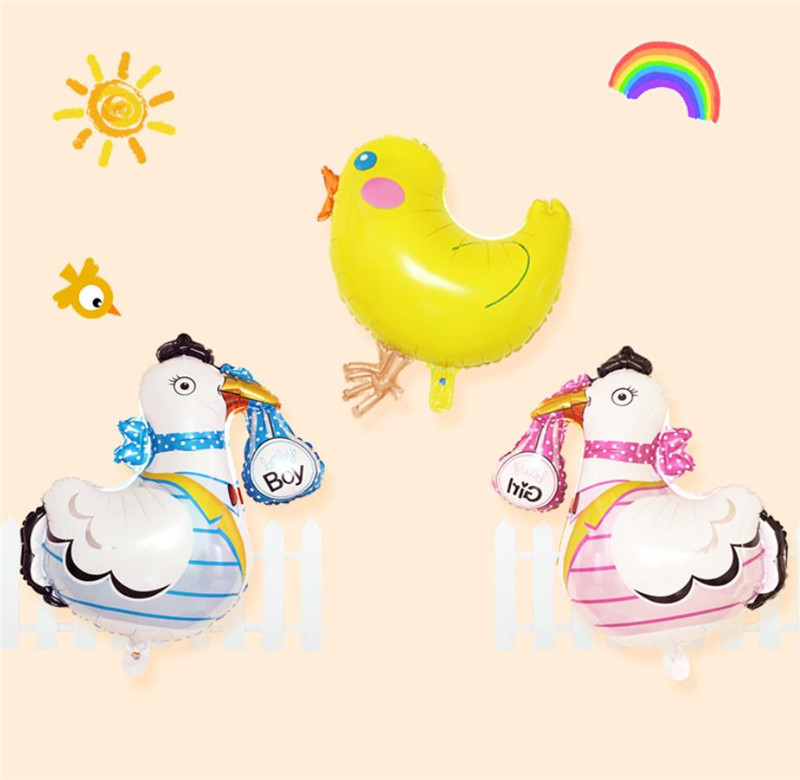 Cartoon Hat Easter Cute Chicken Animal Foil Balloon Children Birthday Party Easter Decoration Baby Boy Girls Gift Toy Chick