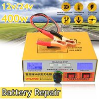 Automatic Intelligent Pulse Repair Type 12V/24V 400AH Car Battery Charger AJ 618