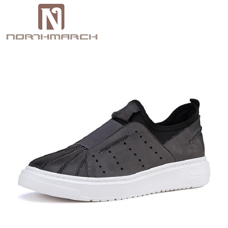 NORTHMARCH Casual Shoes Men Genuine Leather Shoes Soft Comfortable Footwear Men's Shoes Brand Black Loafers Mocassin Homme vesonal 2017 quality mocassin male brand genuine leather casual shoes men loafers breathable ons soft walking boat man footwear