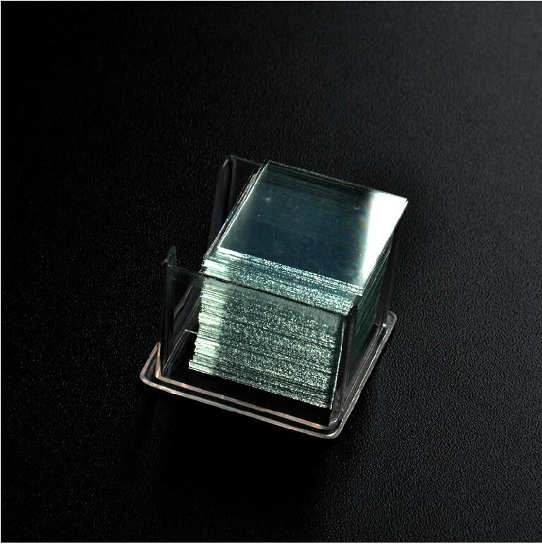 100pcs/box 50x50mm Large Microscope Glass Slide Coverslips Blank Slides Microscope Accessory 0.13-0.17mm