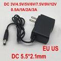 Адаптер питания переменного тока в постоянный ток, 100-240 В, 1 шт., для зарядного устройства, 3 в, 4,5 в, 5 В, 6 в, 7,5 в, 9 В, 12 В, 5,5 А, 1 А, 2 А, 3 А, вилка европ...