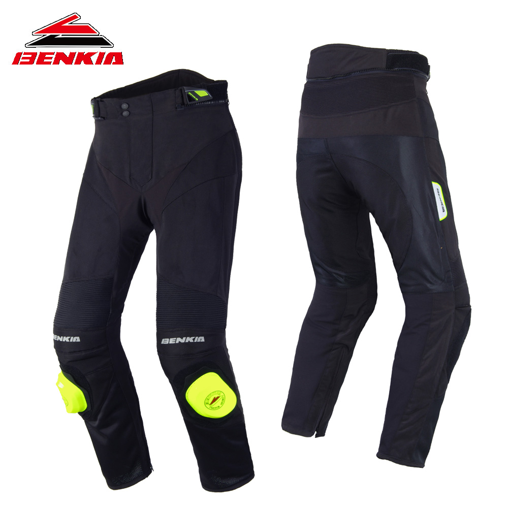 BENKIA Motorcycle Pants Summer Mesh Breathable Trousers Moto Jeans Men Motorcycle Racing Pants Travel Riding Trousers Man PS30