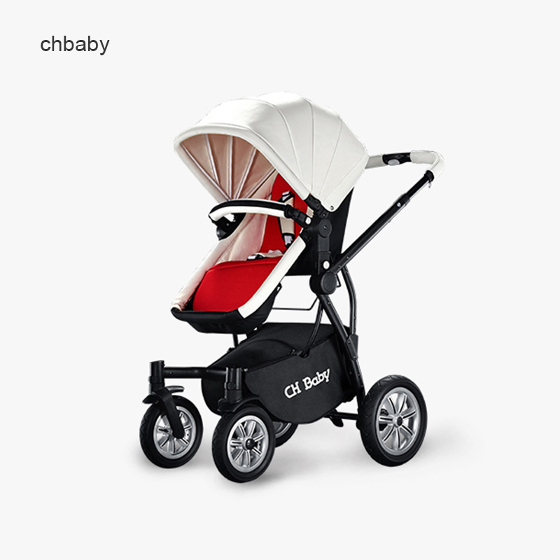 2 in 1 Luxury leather baby strollers newborn to 4 years baby use send 5 free gifts black and white choice 3 in 1 car смартфон keneksi choice white
