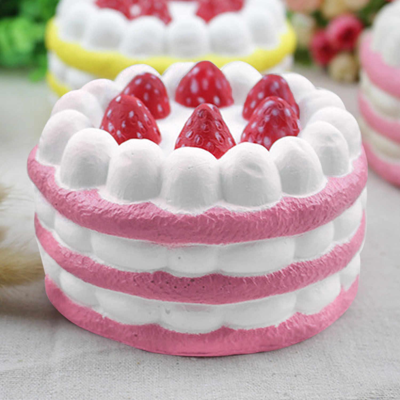 Besegad Kawaii Большой jumbo клубника торт мороженое, мягкий для сжимания медленно распрямляющаяся игрушка для снятия стресса снижающий беспокойство