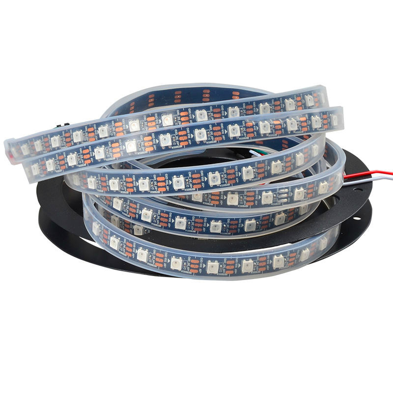 5 Meter WS2812B IP68 Full Color Symphony 30 60 144 LED Pixel/Meter SMD 5050 Built-in IC Programmable Addressable 5V Strip Lights