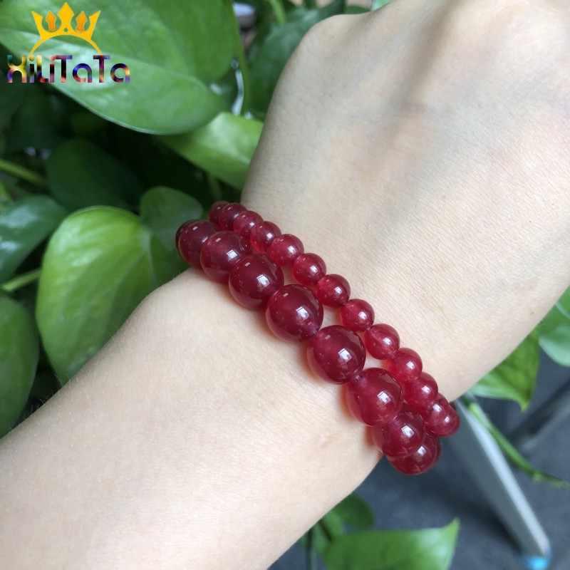 AAA Dark Red Chalcedoon Kralen Natuurlijke Losse Spacer Kralen Voor Sieraden Maken 15 ''Strand 6/8/ 10/12mm DIY Armbanden Ketting