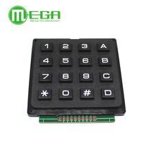 Матричная матрица 4x4, 16 клавиш, 4*4 переключатель клавиатуры, модуль клавиатуры для Arduino