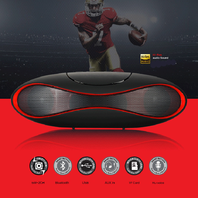 Mult-function Portable Football Wireless Bluetooth Speaker Mic HIFI Super Bass FM Radio Support USB TF Card For All Smartphone portable wireless bluetooth speaker magic light fm usb micro sd function