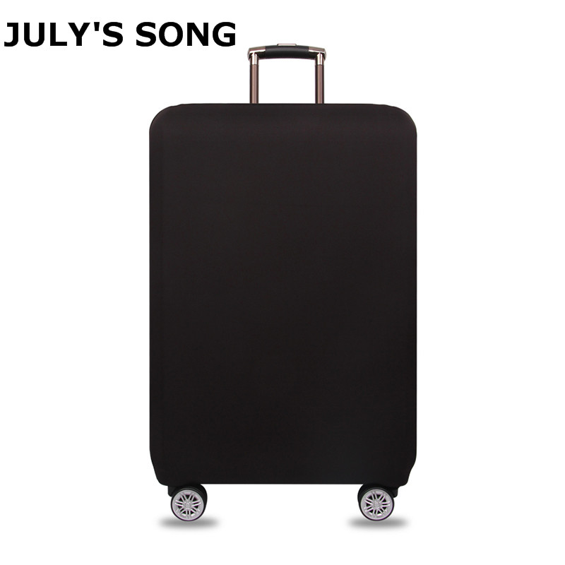 JULY'S SONG Candy Color Luggage Cover For 20-28 Inch Luggage Case Suitcase Dustproof Trolley Case Protector Travel Accessories