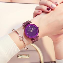 KIMIO бренд водостойкие звезды женские часы дамы мечта фиолетовый большой циферблат бриллиантовый браслет часы простой нержавеющей стали