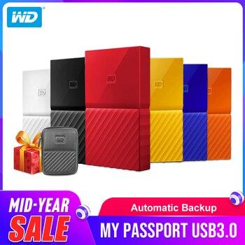Western Digital Портативный HDD 1 ТБ 2 ТБ 4 ТБ My Passport USB 3,0 внешний жесткий диск с HDD кабель Windows, Mac Бесплатная доставка