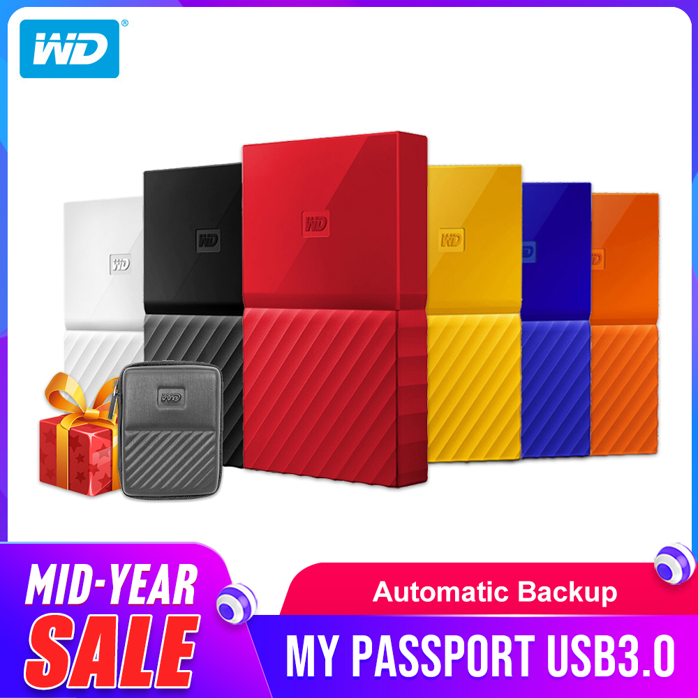 Western Digital My Passport HDD 1TB 2TB 4TB USB 3 0 Portable External Hard  Drive Disk with HDD Cable Windows Mac Free Shipping
