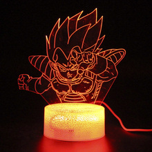 Led Light Holiday Gifts Night Illusion Remote Control Fortnight Lamp 3d Table Dragon Ball Goku Lamps
