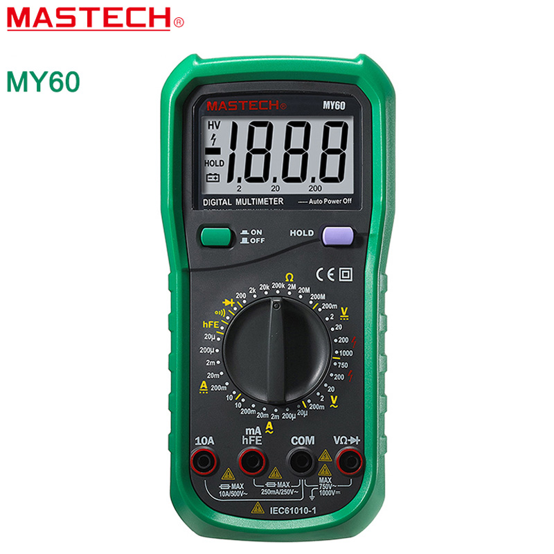 Ac Dc Digital Voltmeter Kit : Digital multimeter mastech my dmm ac dc voltmeter