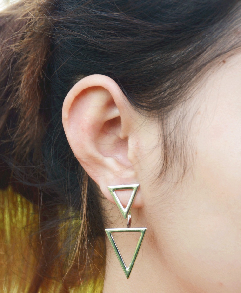 statement next sterling store silver geometric stud home earrings