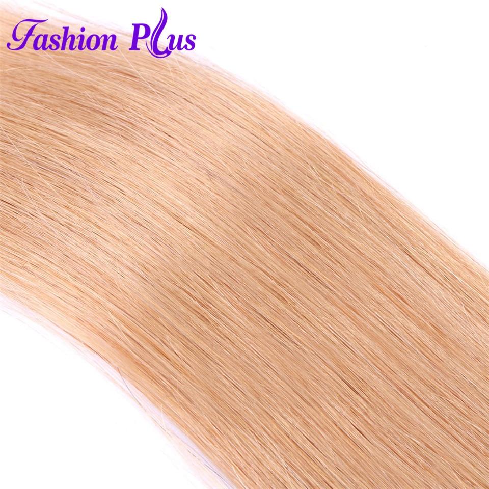 Fashion Plus Pure Color Brasiilia ombre sirged juuksed kimbud # 27 # - Inimeste juuksed (valge) - Foto 2