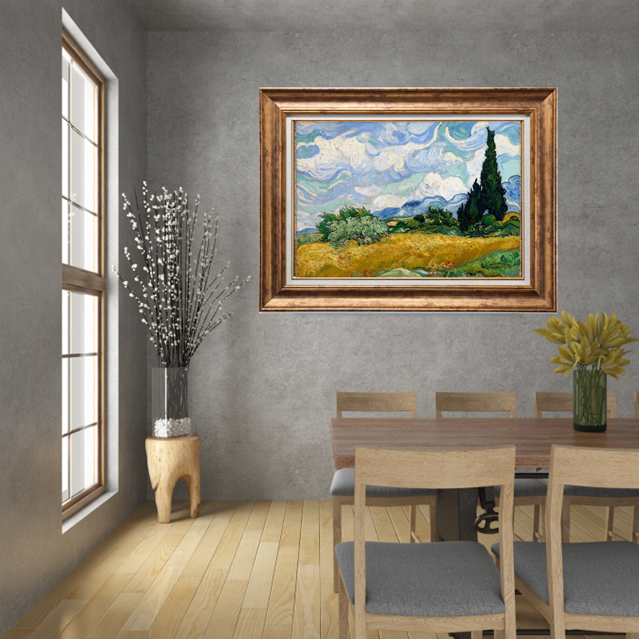 Van Gogh Classical Abstract Canvas Painting Starry Night Landscape Posters Europe Wall Art Print Pictures Living Room Home Decor in Painting Calligraphy from Home Garden
