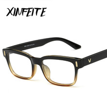 XINFEITE Eyeglasses Women/Men Brand Luxury Fashion 2017 Female Clear Glasses Frames Male Spectacles Vintage Oculos Lady Lunettes