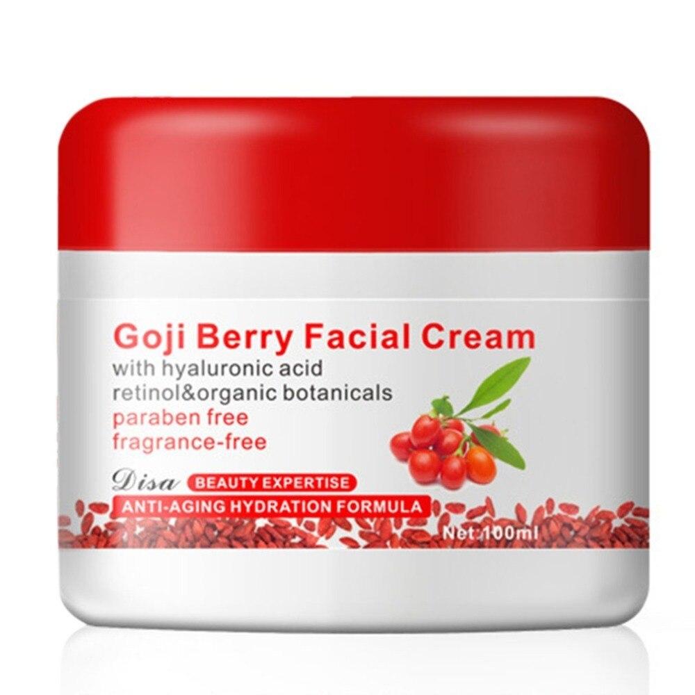 Goji Berry Crème Pour Le Visage Avec Hyaluronique Acide Sans Paraben Sans parfum Crème Pour Le Visage Anti-oxydation Anti-vieillissement de La Peau raffermissant Nouvelle