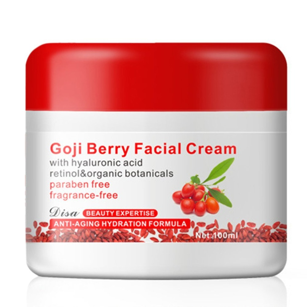 Goji Berry Facial Cream With Hyaluronic Acid Paraben Free Fragrance Free Face Cream Anti-oxidation Anti-aging Skin Firming New китайский чай ningxia goji berry fruit health beauty 250g f170